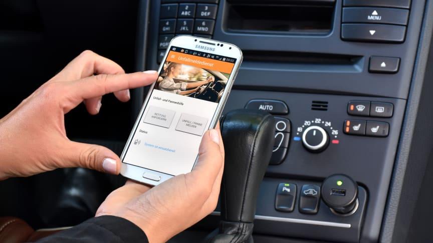 Der Unfallmeldedienst der Auto-Versicherer ist leicht und schnell zu installieren