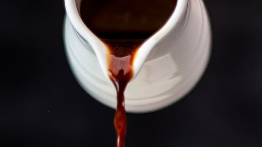 ​Coffee syrup on leftover coffee