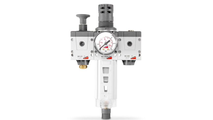 Hydroscands nya smarta kit med filterregulator för pneumatik.