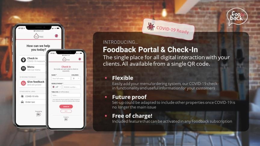 Foodback Portal & Check-In Poster