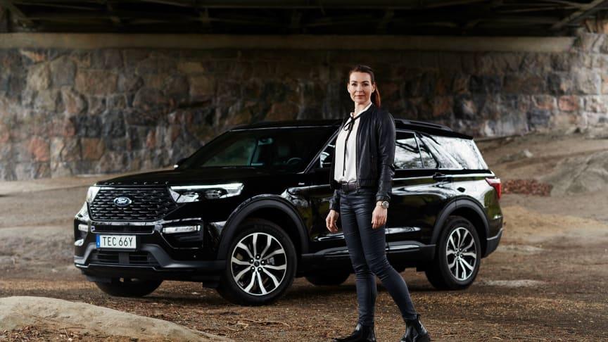Renata blir ny Ford-ambassadör där hon bl.a. kommer att köra Ford Explorer PHEV