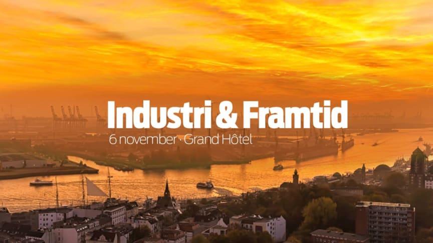 Flera spännande namn föreläser på Industri & Framtid 6 november