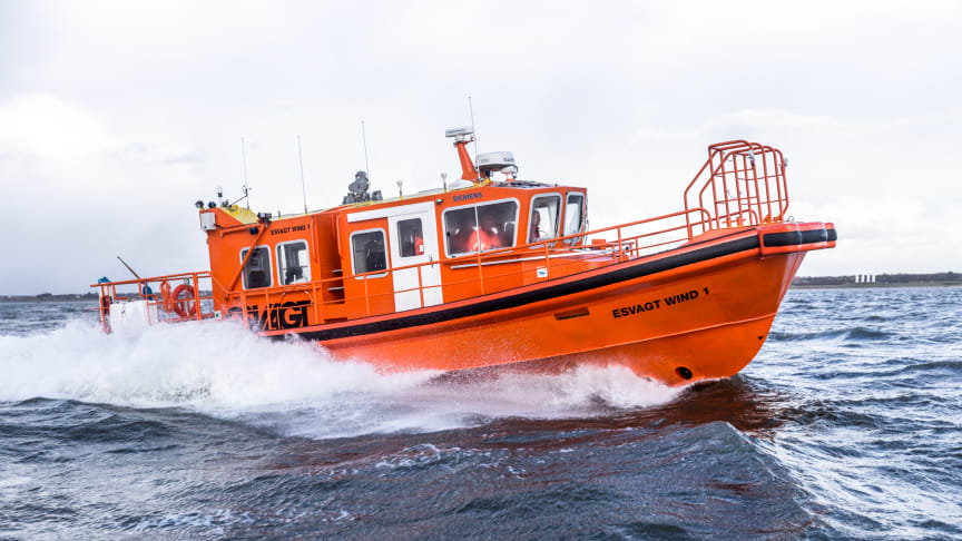 The Safe Transfer Boat, STB 12 is the first covered boat in ESVAGT's own design.