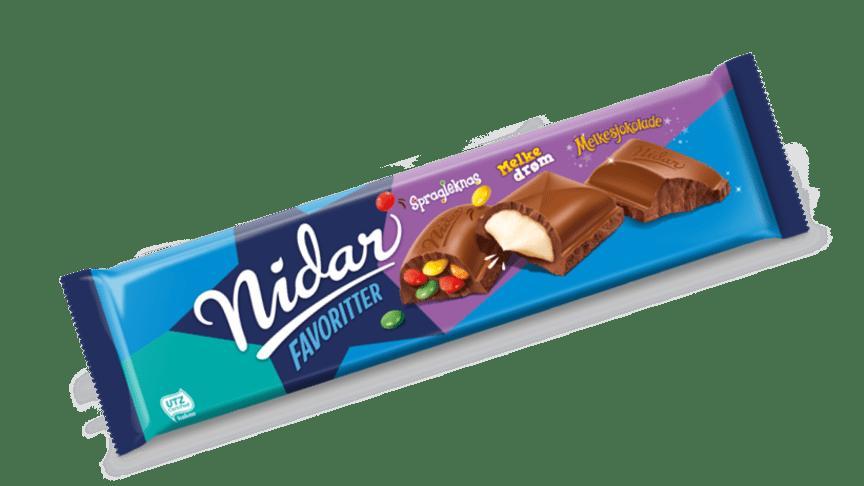 Tilbakekaller et lite parti av sjokoladeplaten Nidar Favoritter blå