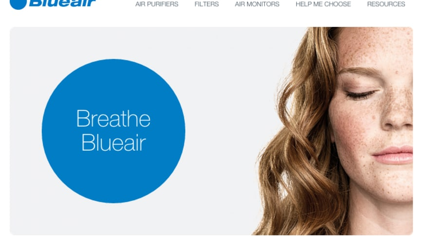 Blueair Launches New Global Website, Delivering Consumers More Interaction, Pollution Insights And Product Data