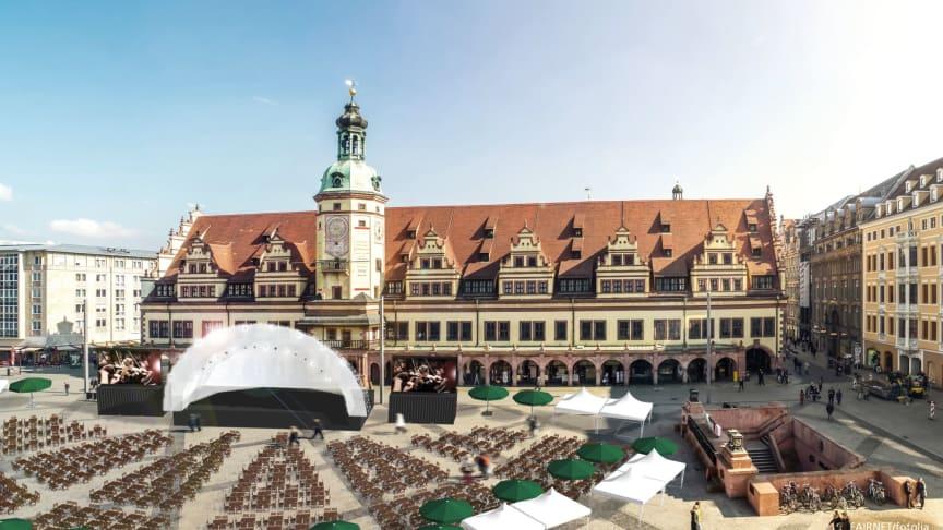Leipziger Markt Musik - Grafik vom geplanten Aufbau © FAIRNET/ fotolia