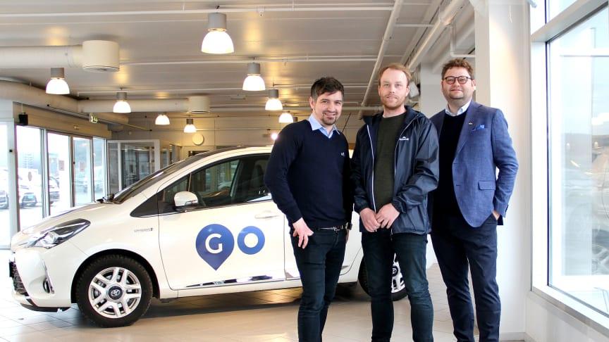 Satser på mobilitet: Prosjektgruppen med Kent E. Jenssen, Stian Hansen og Alexander Nordvik fra Nordvik Gruppen. Foto: Nordvik.