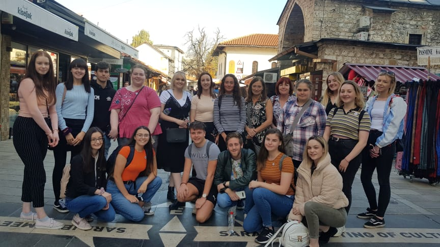 Pictured is the young leaders from across the borough who participated in the visit to Bosnia-Herzegovina in October 2019.