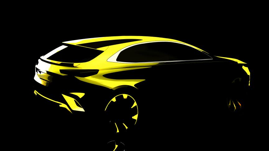 KIA bekræfter rygterne om en 4. karrosserivariant i Ceed modelrækken med den første skitsetegning af en super sporty crossover.