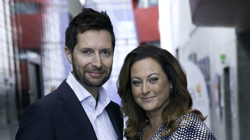 Kåre Quist og Stéphanie Surrugue er værter ved Kronprinsparrets Priser 2015