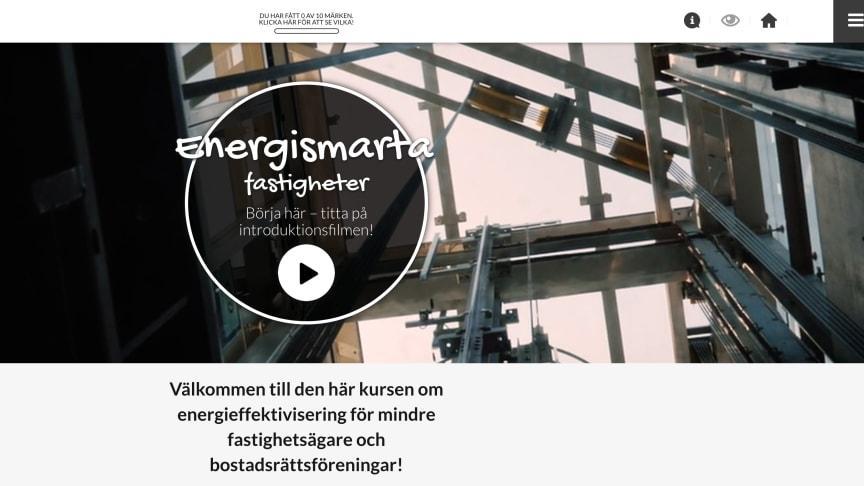 Ny webbkurs för energismarta fastigheter