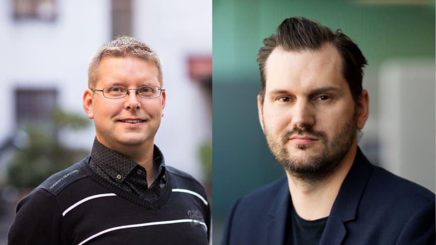 Thomas Mellgren och Fredrik Blid, nya gruppchefer i Stockholm.