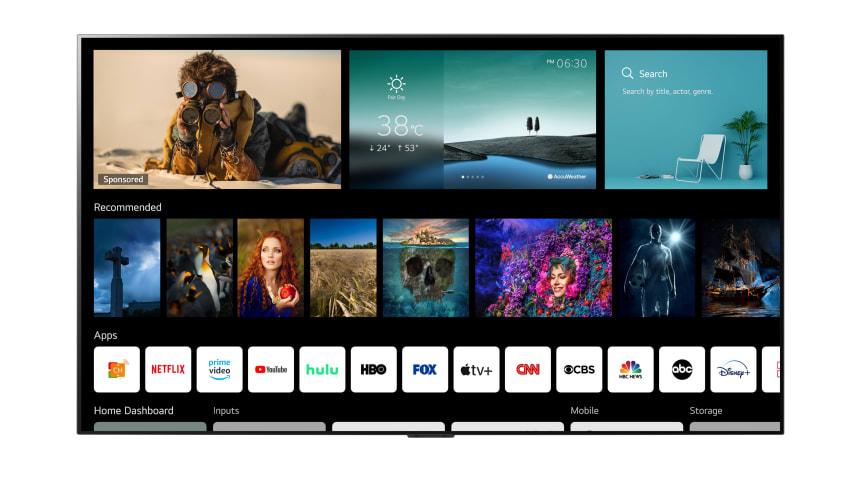 LGs nye webOS 6.0 er utviklet for hvordan vi konsumerer innhold i 2021