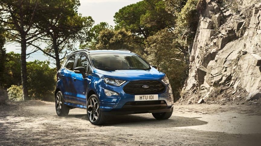 Fords kompakte og køreglade SUV EcoSport indtager Danmark fra 2018