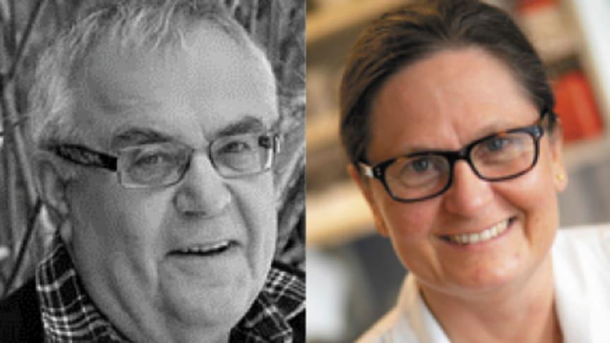 Björn Lindeke och Anne Hiselius, nya hedersledamöter i Apotekarsocieteten.