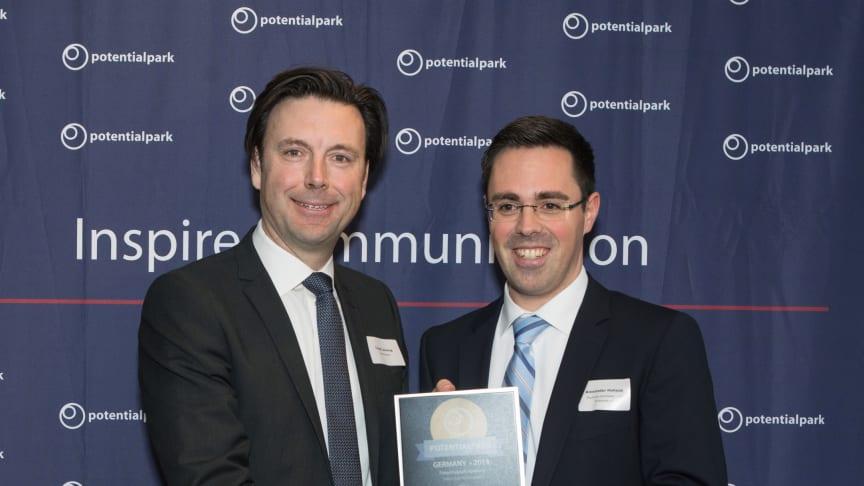 Torgil Lenning (Founder Potentialpark), Alexander Hohaus (Personalmarketing apoBank), Foto: Vero Bielinski