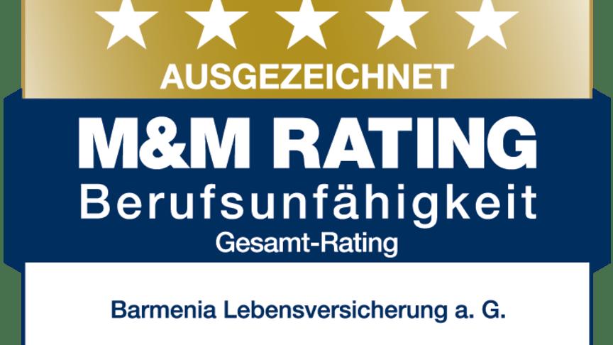 Alle BU-Produkte der Barmenia, darunter die SoloBU, haben im M&M Rating ausgezeichnet abgeschnitten.
