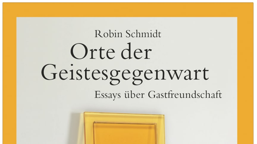 Cover des Buches ‹Orte der Geistesgegenwart› von Robin Schmidt unter Verwendung des Fotos ‹Threshold  II› von Rachel Whiteread