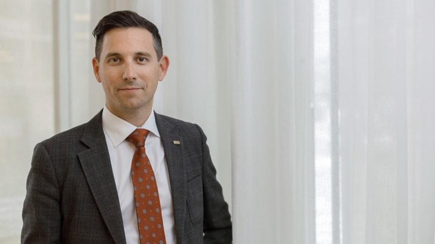 Blivande VD Mikael Dimadis för Einar Mattsson Fastighetsförvaltning AB som startar 1 oktober