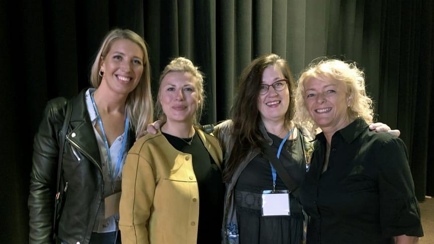 Lina Skandevall, Företagarna, journalisten Anna Norström. Anette Rosvall, Stellagalan och Maria Stridh Mässrestauranger. Foto: Anna Lind Lewin.