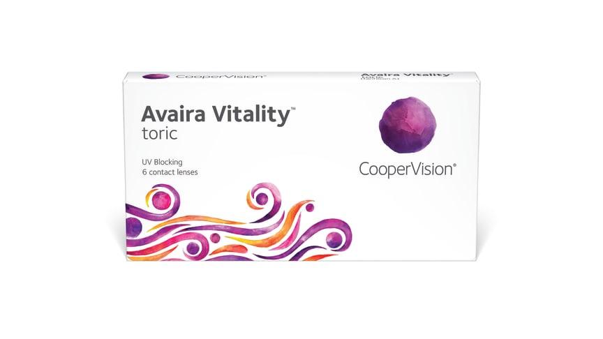 Præcis som hos Avaira toric giver Avaira Vitality toric dig langvarig komfort og udmærket synskvalitet, men med en forbedret UV-beskyttelse og højere væskeindhold.
