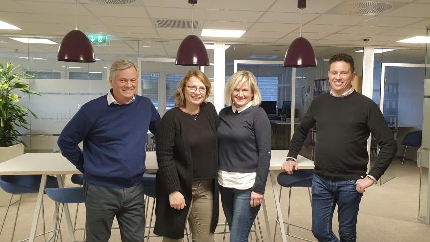 Glade Aidere, fra venstre:  Knut Bergersen, Christina Aandahl, Anita Trollerud og Sturla Torød