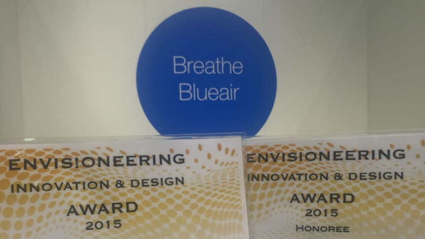 Blueair Wins Two Prestigious International Innovation And Design Awards At Europe's Biggest Tech Show, IFA Berlin 2015
