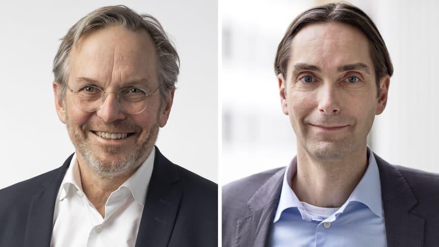Lars Johansson (tv) Magnus Lönn (th), nya ledamöter i Visit Swedens styrelse.