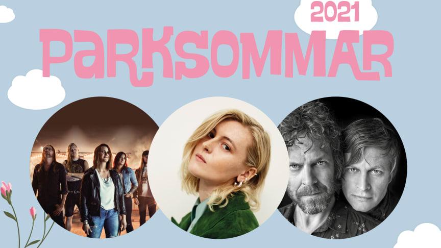 Konserterna med Electric Hydra, Ellen Krauss och Hederos&Hellberg på Parksommar kommer både att kunna ses live och via livestream.