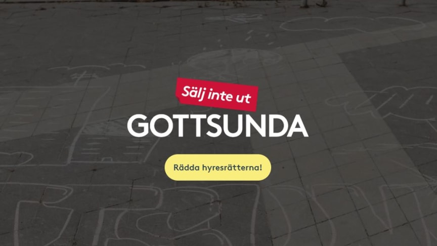 Hyresgästföreningen startar en namninsamling mot utförsäljningar i Gottsunda.