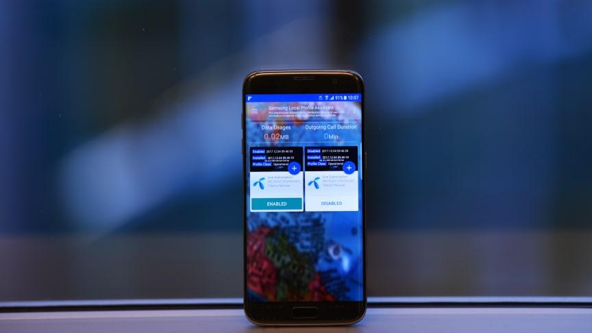 Slik kan en mobiltelefon se ut når den er utstyrt med eSIM. Foto: Martin Fjellanger