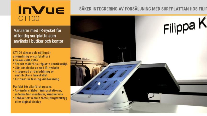 Varularm med IR-nyckel för offentlig surfplatta som används i butiker och kontor