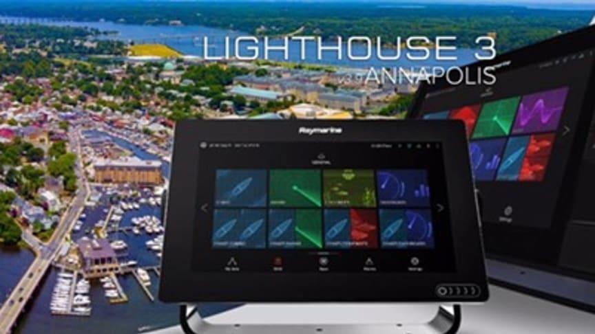 Il nuovo sistema operativo LightHouse 3.9 Annapolis aggiunge nuove e straordinarie capacità e funzionalità agli MFD Raymarine