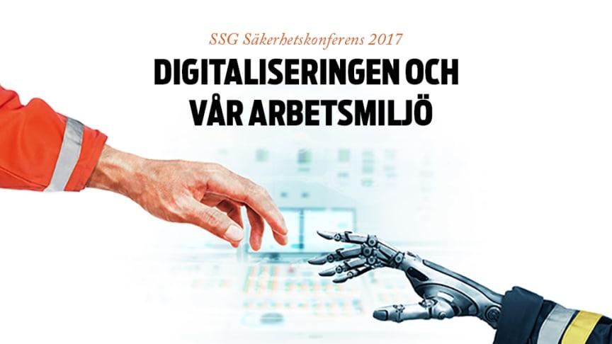 Om en vecka stänger anmälan till SSG Säkerhetskonferens 2017, som i år bär temat Digitaliseringen och vår arbetsmiljö. Fortfarande finns platser kvar, så anmäl dig snarast!