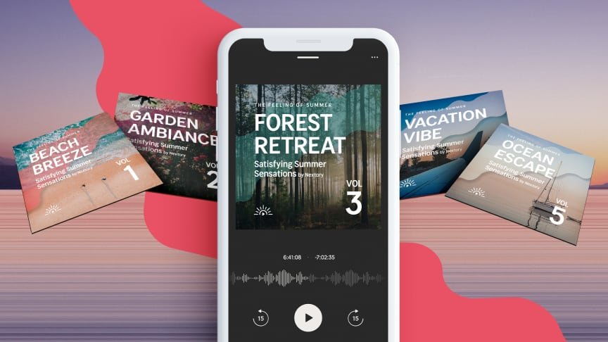 Find vacation peace with ASMR and binaural audio: Nextory releases this summer's most relaxing audiobook series