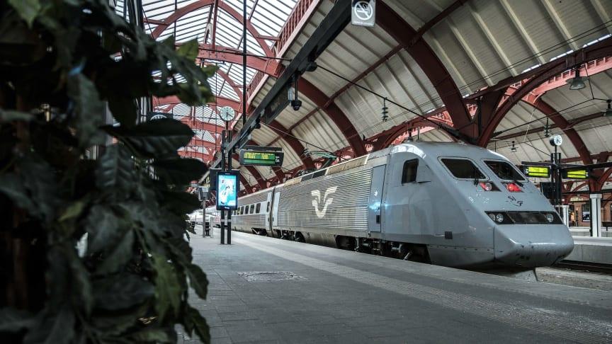 2020 vill SJ ha ännu fler snabbtågsavgångar på södra och västra stambanorna samt förbättrade anslutningar i Köpenhamn. Foto: Mats Ek/SJ