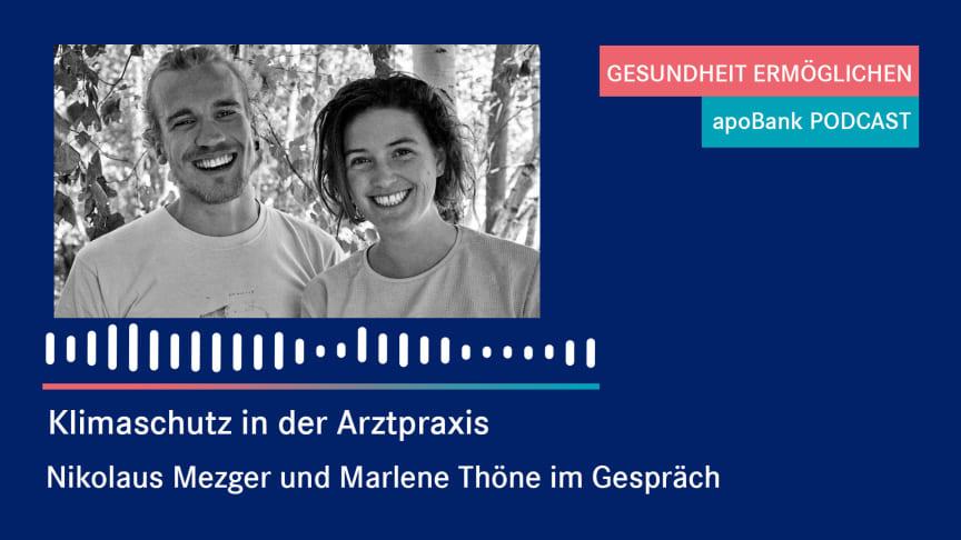 """apoBank-Podcast: """"Mit Lust auf ökologische Transformation anstecken"""" – zwei junge Mediziner packen an"""