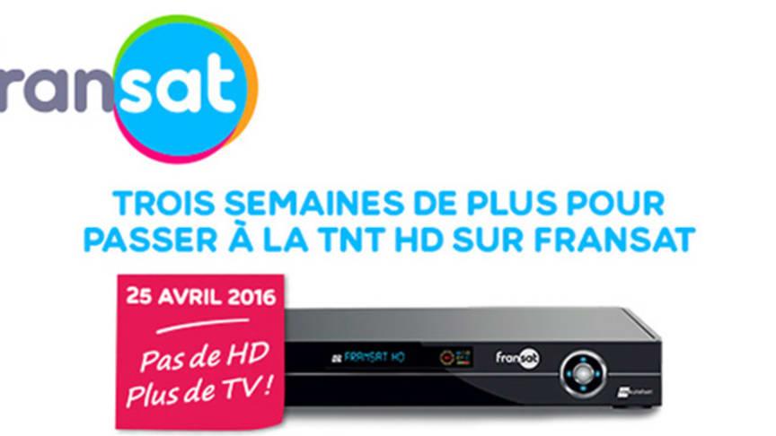 Trois semaines de plus pour passer à la TNT HD sur FRANSAT
