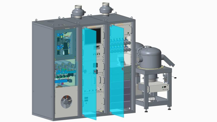 SAUNA III systemet tar in stora mängder luft och detekterar med hög precision mycket små mängder av gasen xenon som alltid bildas vid kärnvapenexplosioner. Systemet är ca 3*2*1 meter stort.