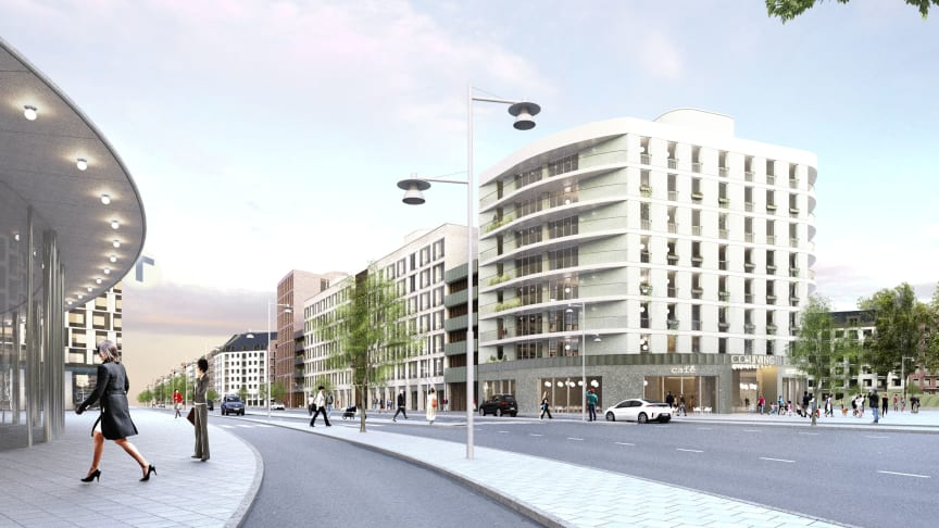 Visionsbild Kvarter 11, etapp IV i Barkarbystaden