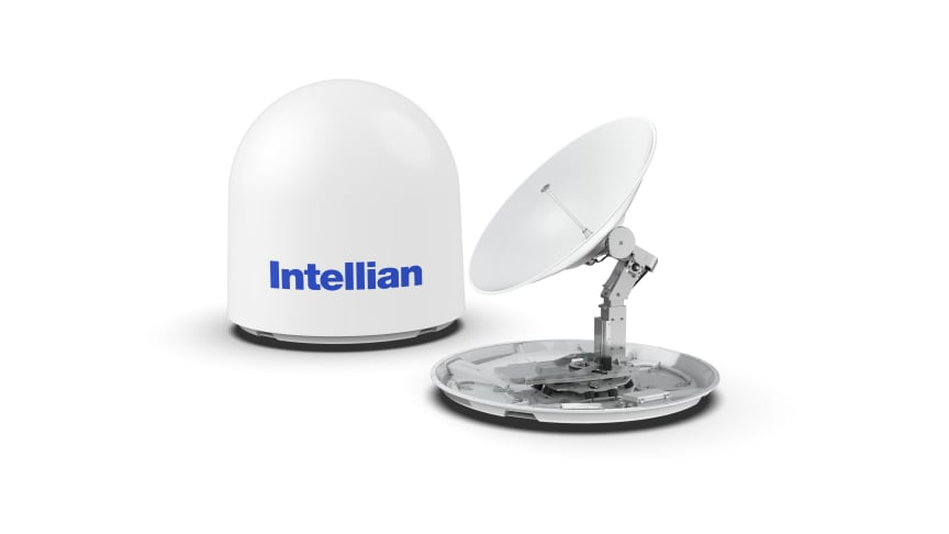 The Intellian v150NX Ka will be on display at Satellite 2017 this week