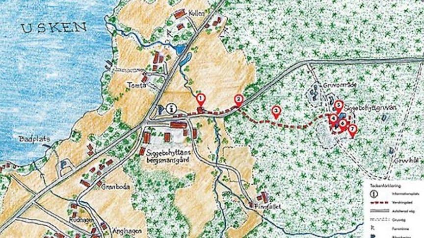 Vandringsleden vid Siggebohyttan - som går upp till det gamla gruvområdet i skogen - invigs 9 juni.