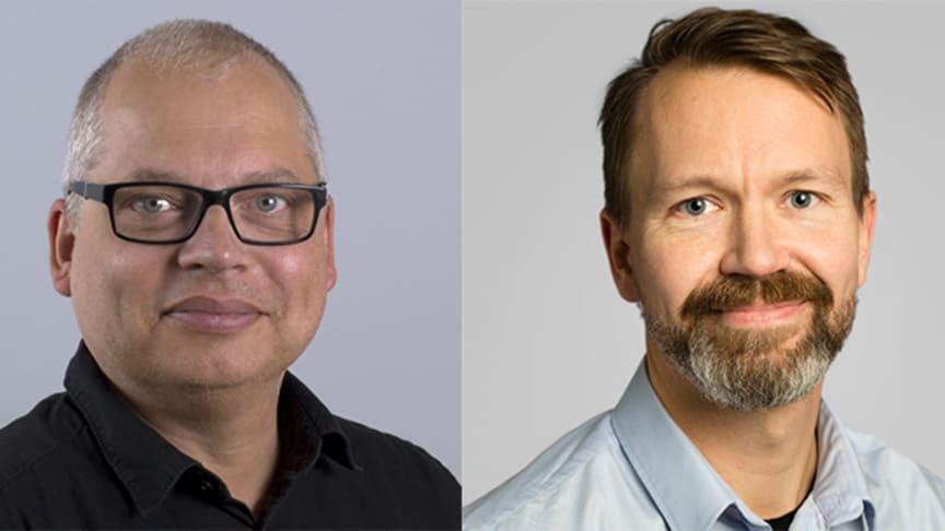 Christer Karlsson och Oskar Laurin. Foto: Anders Lennver, Umeå universitetsbibliotek / Anna Molander