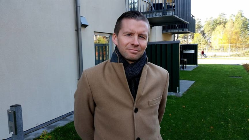 Johan Braw, vd Sölvesborgshem Foto: SVT