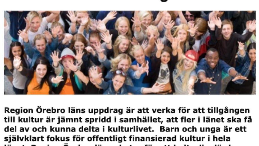 Utökat anslag för mer kultur till varenda unge i Örebro län