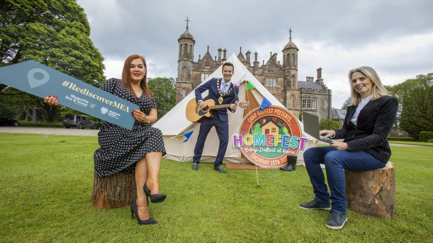 Festival fans get ready as this year's Dalriada Festival, Northern Ireland's biggest family festival, will stream live online from Glenarm Castle and into homes as HOMEFEST 'Camp Dalfest at home' in partnership with MEABC