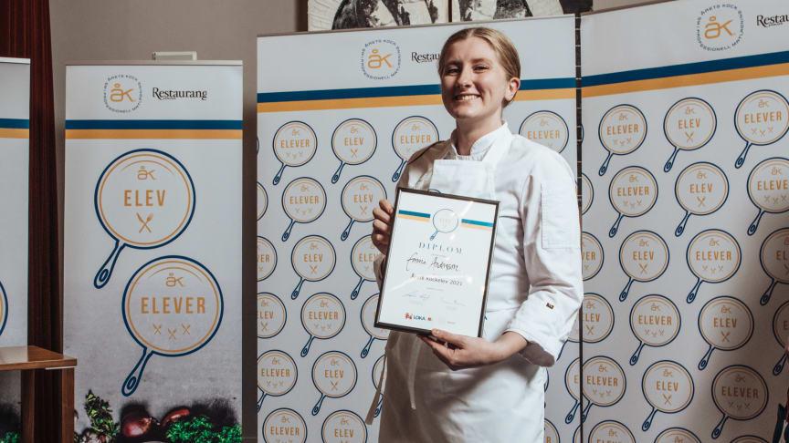 Emma Andersson - Årets Kockelev 2021. Foto Samuel Unéus.