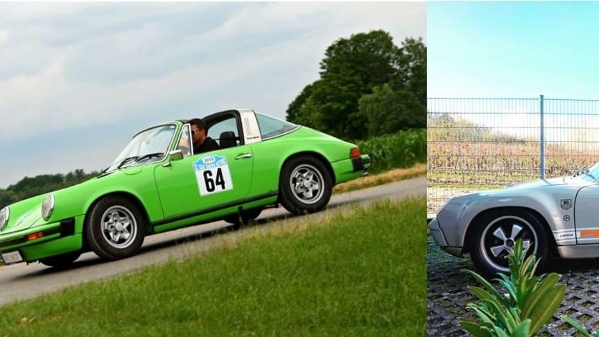 Die beiden Ausstellungsfahrzeuge am BELMOT-Stand (Foto: Mannheimer Versicherung AG)