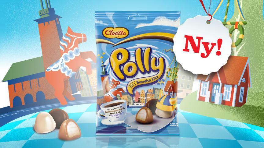 I vårens nyhet bjuder Polly på klassiska svenska godbitar – for a Swedish fika!