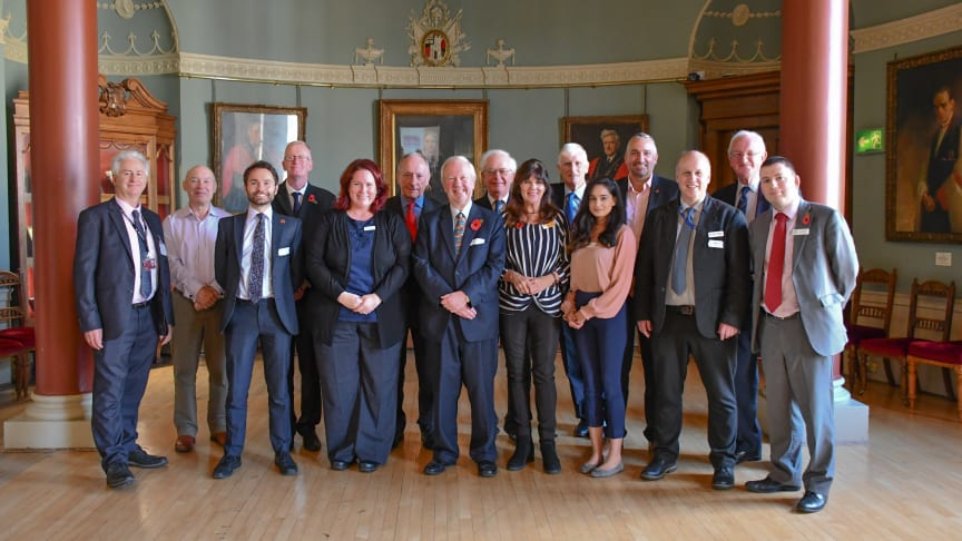 Partners at the launch of the Worcestershire Community Rail Partnership